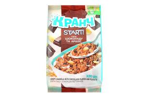 Гранола хрустка зі смаком шоколаду та арахісом Кранч Start! м/у 320г