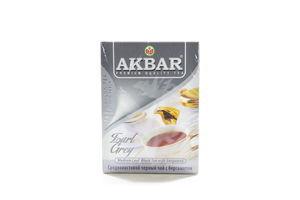 Чай черный среднелистовой с бергамотом Earl Grey Akbar к/у 100г