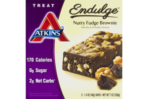 Atkins Endulge Nutty Fudge Brownie - 5 CT