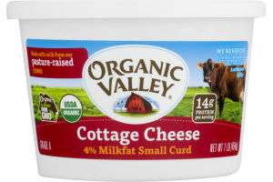 Organic Valley Cottage Cheese 4% Milkfat Small Curd
