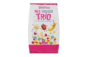 Сніданок готовий зі смаком малини ванілі банану Trio Mix Doctor Benner м/у 150г