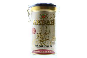 Чай Akbar Royal Gold черн особо кр лист ж/б зажим 150г
