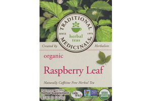 Traditional Medicinals Herbal Teas Organic Raspberry Leaf Tea Bags - 16 CT