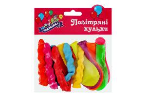 Шарики воздушные №AS1 витые большие Надувайка 10шт