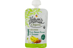 Nature's Promise Organic Baby Food Pear, Sweet Potato & Banana