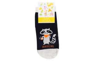 Шкарпетки дитячі Легка хода №9231 14-16 маріне-срібло меланж