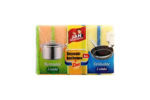 Губка Jan Niezbedny для миття посуду 5шт Art. 284934