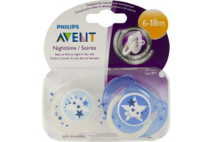 Philips Avent Nighttime Orthodontic Pacifiers 6-18m - 2 CT