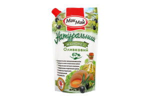 Майонез 67% Оливковый Макмай д/п 350г