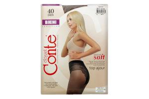 Колготки жіночі Conte elegant Bikini №8С-47СП 40den 2-S bronz