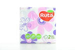 Салфетки бумажные Фиалка Ruta 40шт