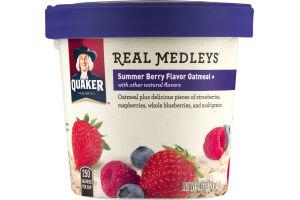 Quaker Real Medleys Summer Berry Flavor Oatmeal