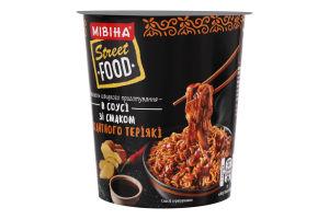 Вермішель швидкого приготування гостра в соусі зі смаком теріякі Street Food Мівіна ст 75г