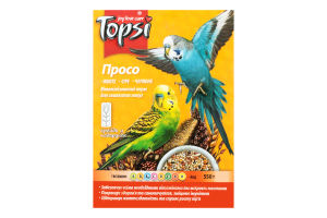 Корм витаминизированный для волнистых попугаев Просо Topsi к/у 550г