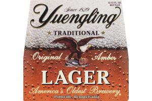 Yuengling Lager Beer Bottles - 12 CT