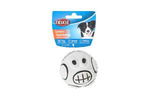 Мяч Trixie с рожицей латекс 7см 3527