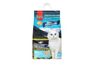 Наполнитель для котов крупный Maxi Bio Granula Topsi 5кг