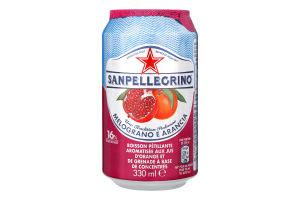 Напій безалкогольний газований Melograno e Arancia Sanpellegrino з/б 330мл