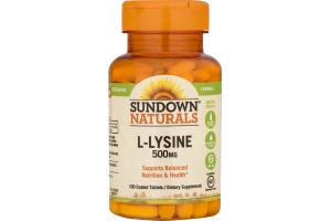 Sundown Naturals L-Lysine - 100 CT