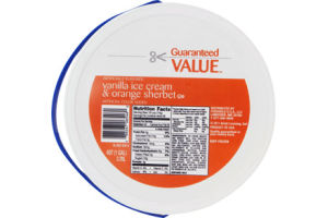 Guaranteed Value Vanilla Ice Cream & Orange Sherbet