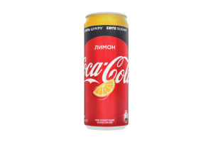 Напиток безалкогольный сильногазированный Лимон Coca-Cola Zero ж/б 330мл