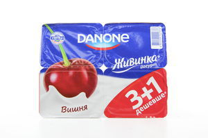 Йогурт 1,5% Живинка вишня Danone уп 4*115г/460г