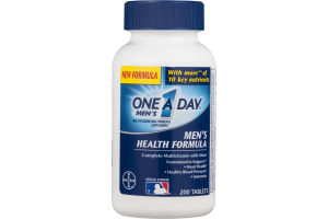 One A Day Men's Health Formula Complete Multivitamin Tablets - 200 CT