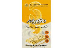 NuGo Nutrition to Go Orange Smoothie Bars - 15 CT