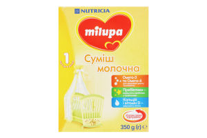 Суміш молочна суха для дітей від 0 до 6міс 1 Milupa к/у 350г