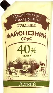Соус Беларускія традыцыі Легкий майонезный 40% д/п
