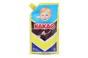 Молоко сгущенное 7.5% с сахаром и какао Первомайський МКК д/п 290г
