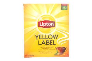Чай черный байховый Yellow Label Lipton к/у 100х2г