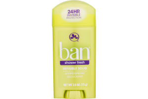Ban Invisible Solid Antiperspirant Deodorant Shower Fresh