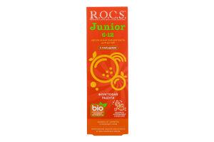 Зубна паста з кальцієм для дітей Фруктова веселка Junior R.O.C.S. 74г