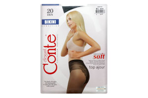 Колготки Conte Bikini 20den 4 Nero