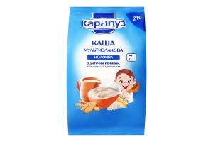 Каша молочная мультизлаковая с печеньем для детей с 7мес Карапуз м/у 210г
