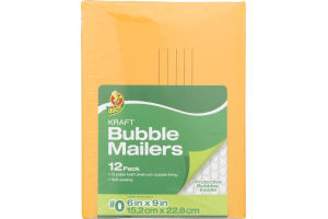 Duck Kraft Bubble Mailers #0 - 12 PK