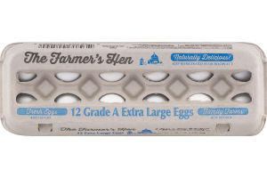 The Farmer's Hen Grade A Extra Large Eggs - 12 CT