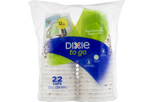Dixie To Go Cups 12 oz. - 22 CT