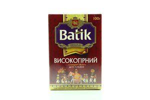 Чай черный байховый мелкий Высокогорный Batik к/у 100г