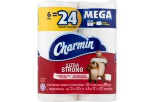 Charmin Ultra Strong Bathroom Tissue Mega Rolls - 6 CT