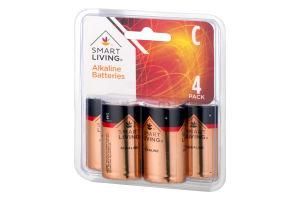 Smart Living Alkaline Batteries C - 4 CT