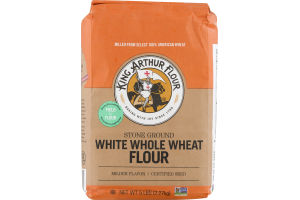 King Arthur Flour 100% Whole Grain White Whole Wheat Flour