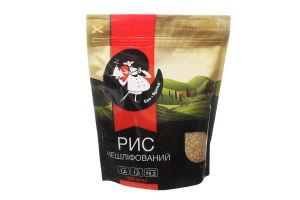 Рис очищенный нешлифованный Еко-Бренд д/п 600г