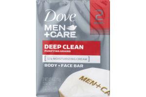 Dove Men+Care Body + Face Bar Deep Clean - 2 CT