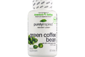 Purely Inspired Weight Loss Green Coffee Bean - 60 CT