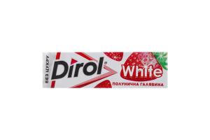 Резинка жевательная без сахара Клубничная поляна White Dirol м/у 14г