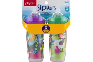 Playtex Sipsters Insulated Spill-Proof Straw Cups Stage 3 - 2 CT