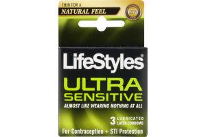 LIfeStyles Condoms Ultra Sensitive - 3 CT
