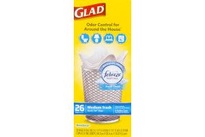Glad Odor Control Trash Bags Medium Febreze - 26 CT